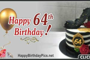Happy 64th Birthday with Pearl Heeled Shoes