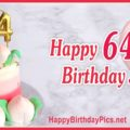 Happy 64th Birthday with Pink Gold