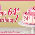 Happy 64th Birthday with Pink Candies
