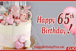 Happy 65th Birthday with Floral Design
