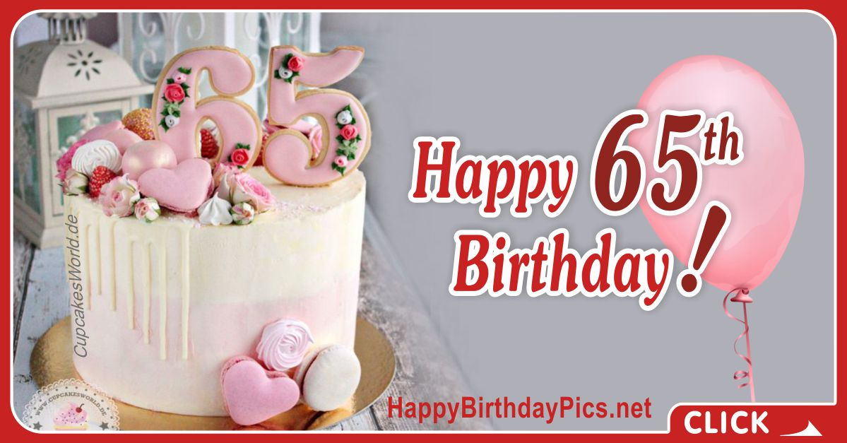 Happy 65th Birthday with Floral Design Card Equivalents