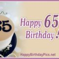 Happy 65th Birthday with Pearl Cake