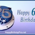 Happy 65th Birthday with Blue Stars