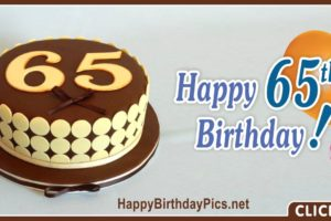 Happy 65th Birthday with Yellow Cake