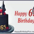 Happy 65th Birthday with Black Cake
