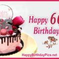 Happy 66th Birthday with Ruby Brooch