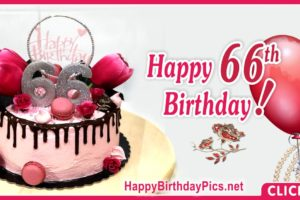 Happy 66th Birthday with Ruby Brooch
