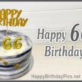 Happy 66th Birthday with Marble Cake