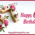 Happy 67th Birthday with Pink Macarons