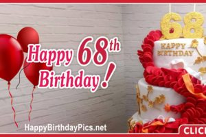 Happy 68th Birthday with Ruby Hearts