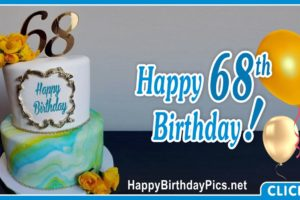 Happy 68th Birthday with Ornamental Frame