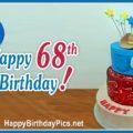 Happy 68th Birthday with Sheriff Cake