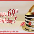 Happy 69th Birthday with Heeled Shoes