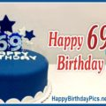 Happy 69th Birthday with Blue Cake