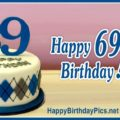 Happy 69th Birthday with Diamond Sweater Pattern