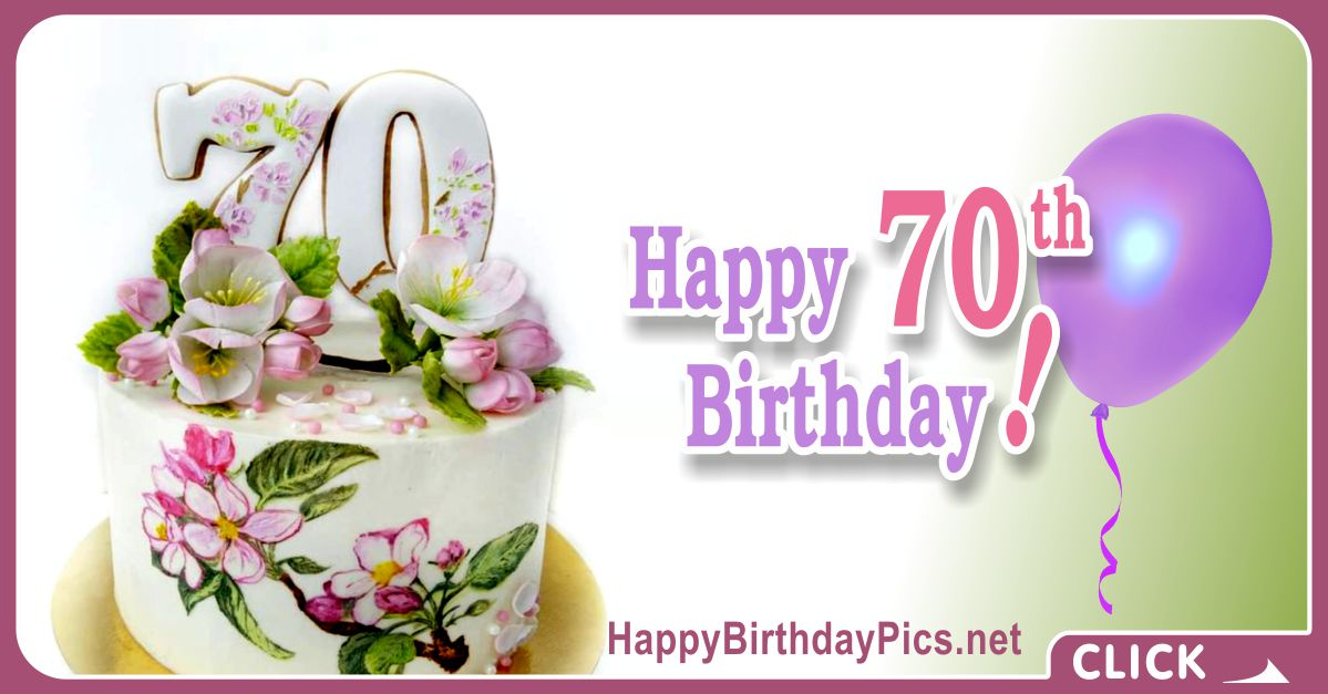 Happy 70th Birthday in Vintage Style Card Equivalents