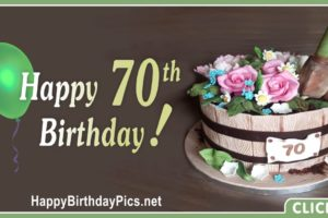 Happy 70th Birthday with Gardening Theme