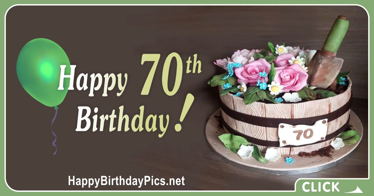 Happy 70th Birthday with Gardening Theme Card Equivalents