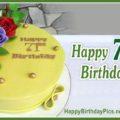 Happy 71st Birthday with Yellow Cake