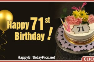Happy 71st Birthday with Golden Plate