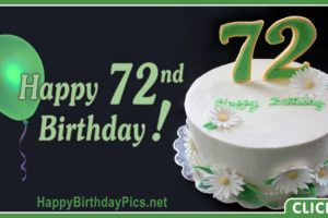 Happy 72nd Birthday with Green Card