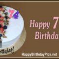 Happy 74th Birthday with Strawberry Cake