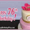 Happy 76th Birthday with Golden Brooch