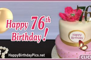 Happy 76th Birthday with Golden Brooch