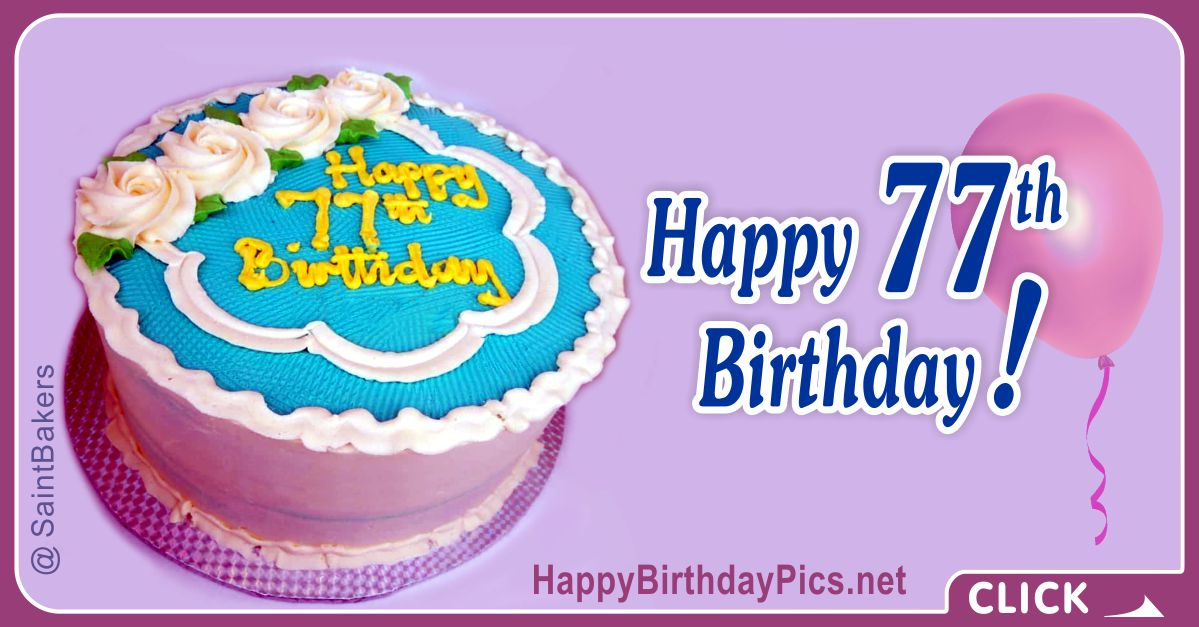Happy 77th Birthday with Lavender Background Card Equivalents