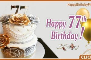 Happy 77th Birthday with Jewelry Cake