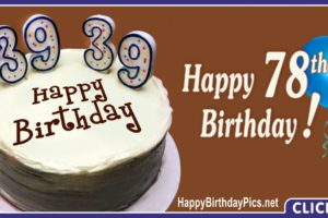 Happy 78th Birthday with Double 39