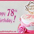 Happy 78th Birthday with Stylish Design