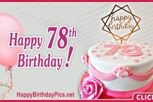 Happy 78th Birthday with Stylish Design
