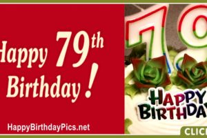 Happy 79th Birthday with Plain Theme