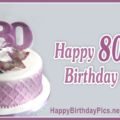 Happy 80th Birthday with Lavender Theme