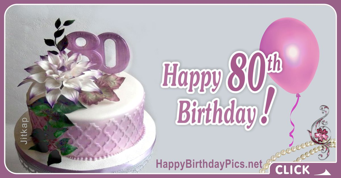 Happy 80th Birthday with Lavender Theme Card Equivalents