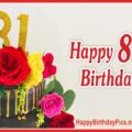Happy 81st Birthday with Colorful Roses