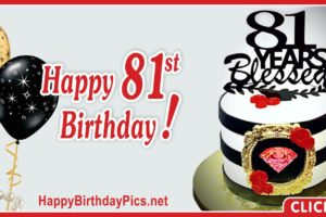 Happy 81st Birthday with Golden Frame
