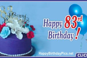 Happy 83rd Birthday with Pearls Cake