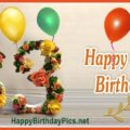 Happy 83rd Birthday with Floral Design