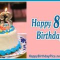 Happy 83rd Birthday with Gold Candles