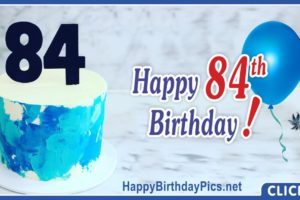 Happy 84th Birthday with Marble Pattern