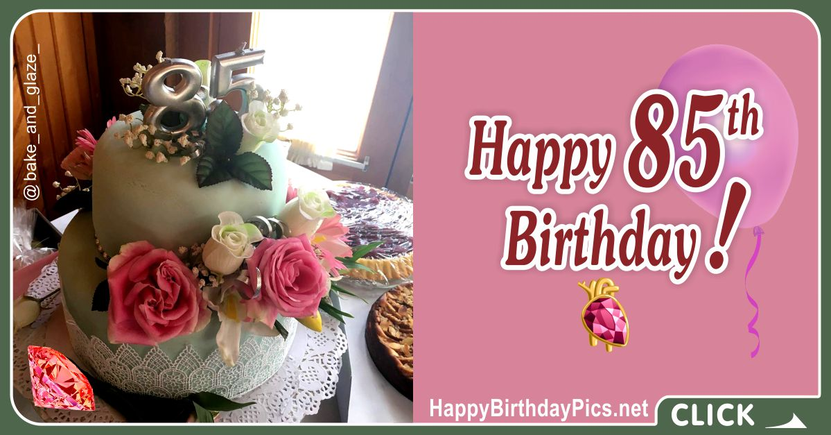 Happy 85th Birthday with Lace Pattern Card Equivalents