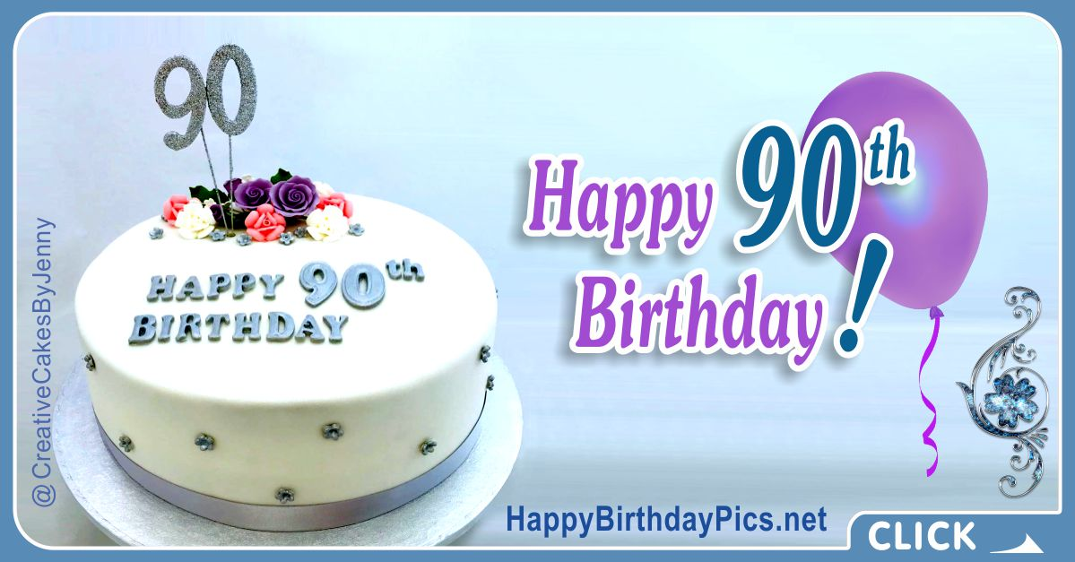 Happy 90th Birthday with Blue Gemstone Card Equivalents