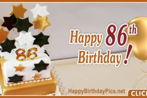 Happy 86th Birthday with Golden Stars