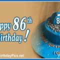 Happy 86th Birthday with Camping Theme