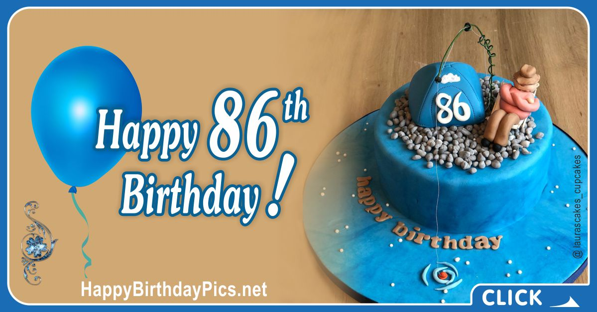 Happy 86th Birthday with Camping Theme Card Equivalents