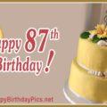 Happy 87th Birthday with Golden Cake