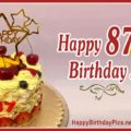 Happy 87th Birthday with Cherry Cake