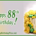 Happy 87th Birthday with Green Macarons